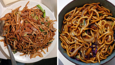 Differentiation between chow mein and lo mein